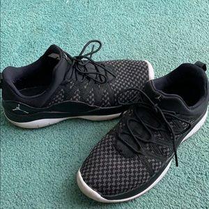 Black Nike Jordan sneakers